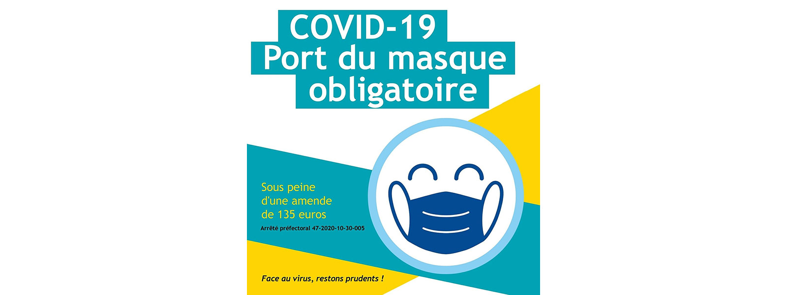COVID-19 : Extension de l'obligation du port du masque
