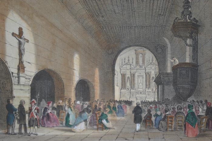 Lâ??église Saint-Léger et le retable - Fongrave