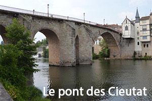 Le pont des Cieutat ou vieux pont à Villeneuve-sur-Lot