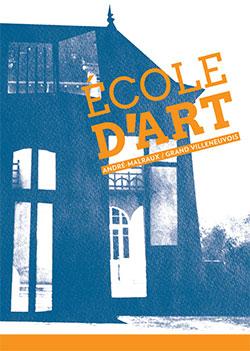 Plaquette 2019 de l'école d'art du Villeneuvois