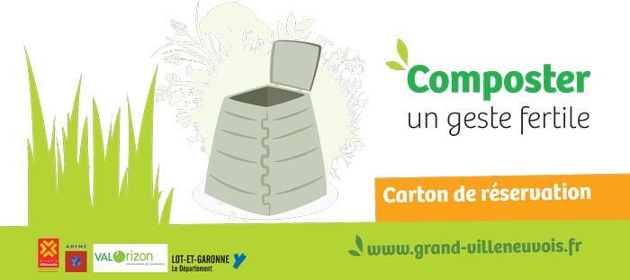 Réserver un composteur en Villeneuvois
