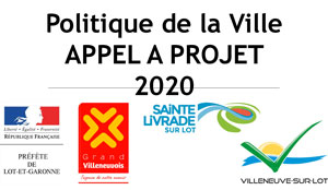 Politique de la Ville appel à projet 2020 Villeneuvois