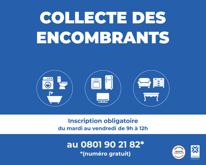 Collecte gratuite des emcombrants en Villeneuvois