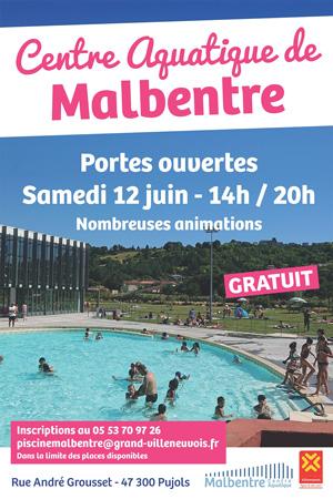 Portes ouvertes de la piscine de Malbnetre 12 juin 2021